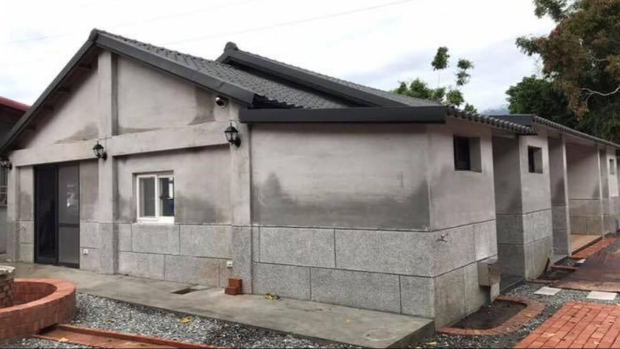 建築設計作品-東部-老屋建築側面