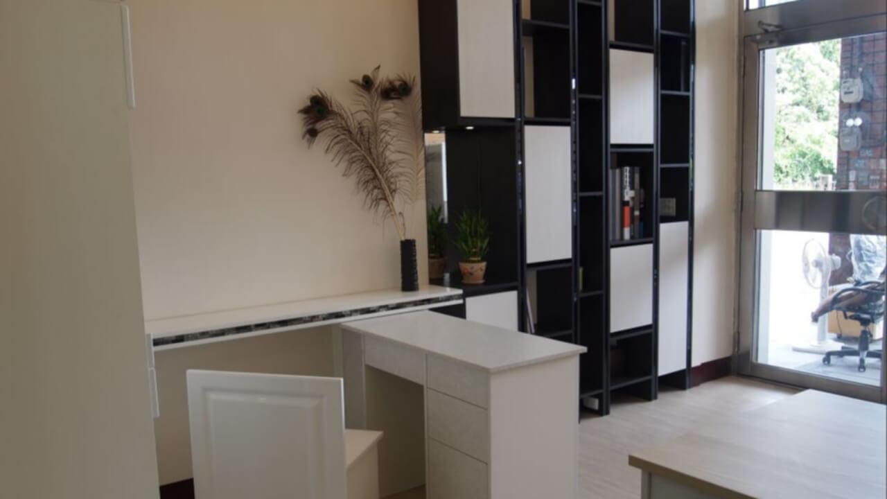 建築設計作品-舊屋翻新-系統櫃書櫃